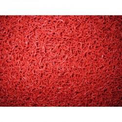 Felpudo Rizo Rojo 14 mm al corte.